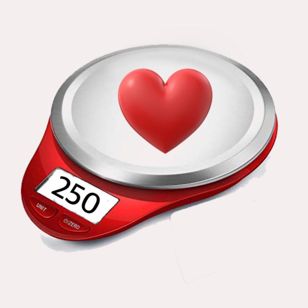 وزن تقریبی قلب